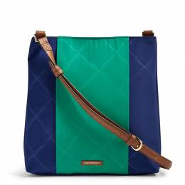 Vera Bradley Preppy Poly Molly Crossbody in Evening Sky and Clover