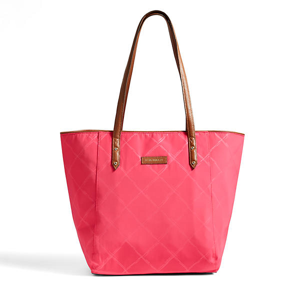 Vera Bradley Preppy Poly Small Ella Tote in Rose