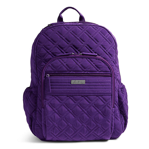 Vera Bradley Campus Tech Backpack in Elderberry