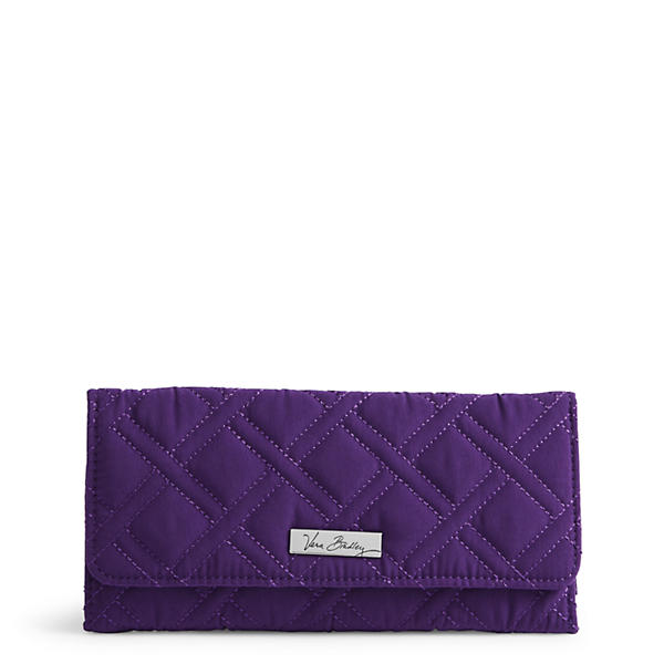 Vera Bradley Trifold Wallet in Elderberry