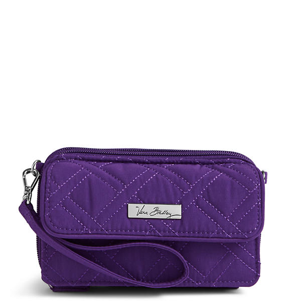 Vera Bradley All in One Crossbody and Wristlet for iPhone 6+ in Elderberry