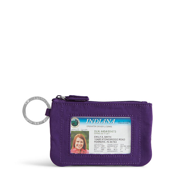 Vera Bradley Zip ID Case in Elderberry
