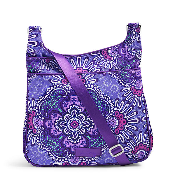 Vera Bradley Lighten Up Slim Crossbody in Lilac Tapestry