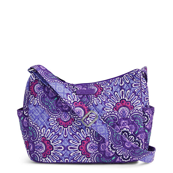 Vera Bradley On the Go Crossbody in Lilac Tapestry