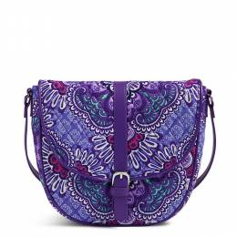 Vera Bradley Slim Saddle Bag in Lilac Tapestry