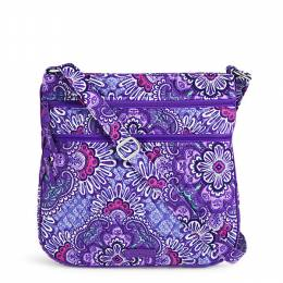 Vera Bradley Triple Zip Hipster Crossbody in Lilac Tapestry