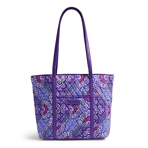 Vera Bradley Small Trimmed Vera in Lilac Tapestry
