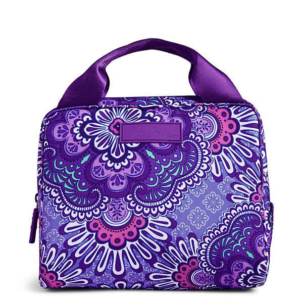 Vera Bradley Lighten Up Lunch Cooler Bag in Lilac Tapestry