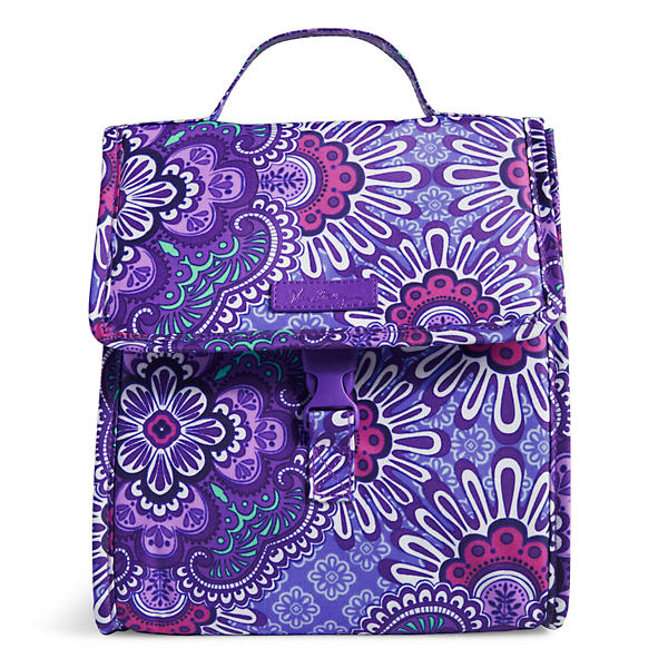 Vera Bradley Lunch Sack in Lilac Tapestry