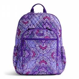 Vera Bradley Campus Tech Backpack in Lilac Tapestry