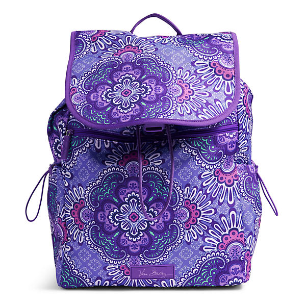 Vera Bradley Lighten Up Drawstring Backpack in Lilac Tapestry