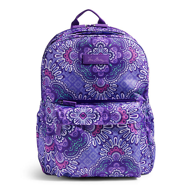 Vera Bradley Lighten Up Grande Laptop Backpack in Lilac Tapestry