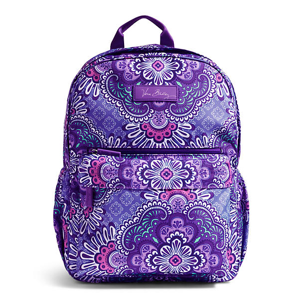 Vera Bradley Lighten Up Just Right Backpack in Lilac Tapestry