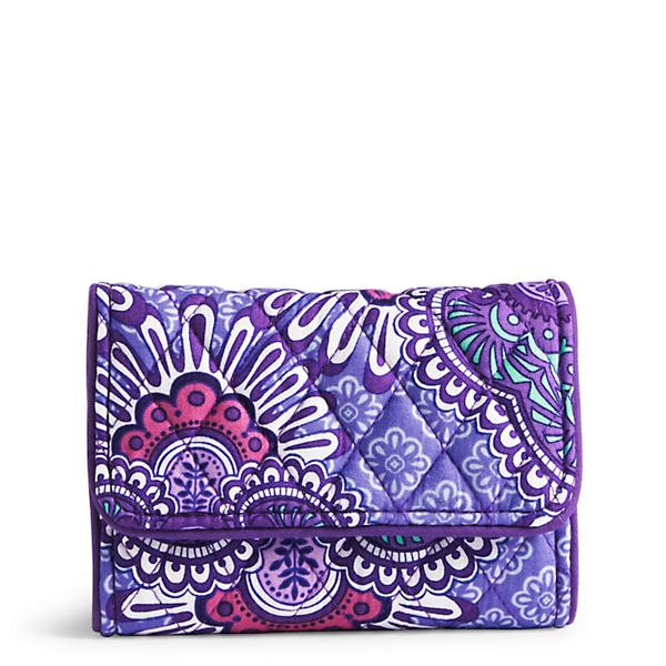 Vera Bradley Riley Compact Wallet in Lilac Tapestry