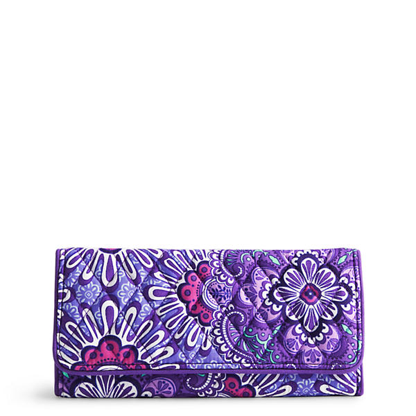 Vera Bradley Trifold Wallet in Lilac Tapestry