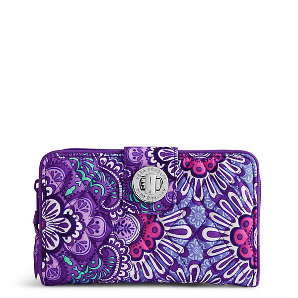Vera Bradley Turn Lock Wallet in Lilac Tapestry