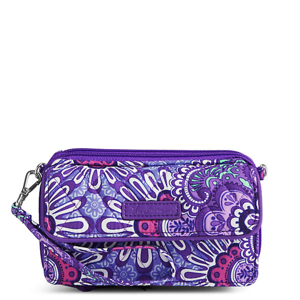 Vera Bradley All in One Crossbody and Wristlet for iPhone 6+ in Lilac Tapestry