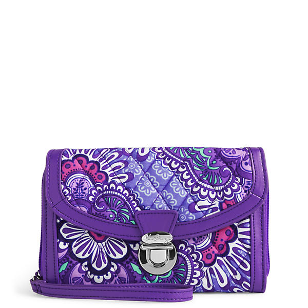 Vera Bradley Ultimate Wristlet in Lilac Tapestry