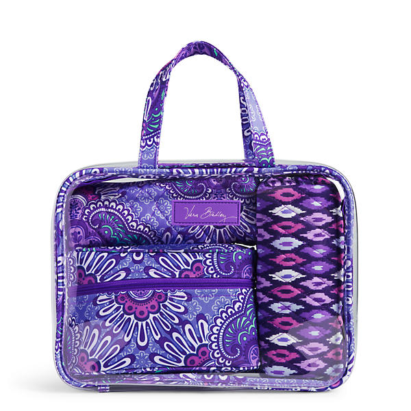 Vera Bradley 4 pc. Cosmetic Organizer in Lilac Tapestry