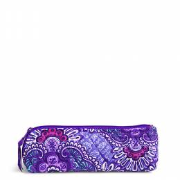 Vera Bradley Brush & Pencil Case in Lilac Tapestry