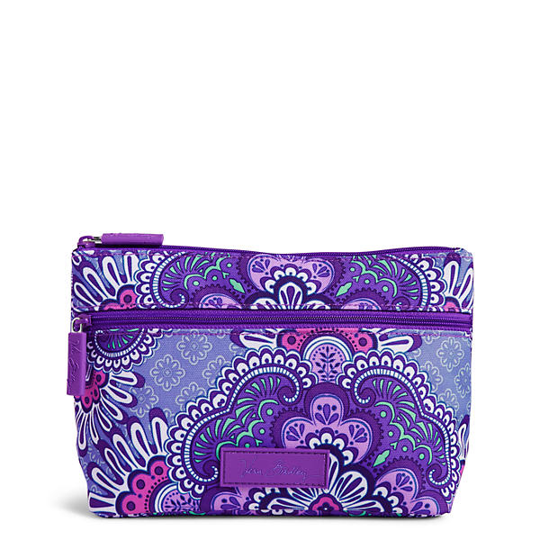 Vera Bradley Lighten Up Travel Cosmetic in Lilac Tapestry