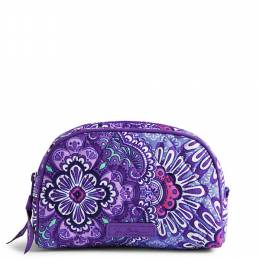 Vera Bradley Small Zip Cosmetic Bag in Lilac Tapestry