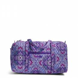 Vera Bradley Large Duffle 2.0 Travel Bag in Lilac Tapestry