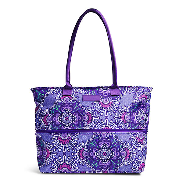 Vera Bradley Lighten Up Exandable Travel Tote in Lilac Tapestry