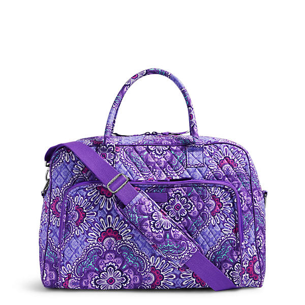 Vera Bradley Weekender Travel Bag in Lilac Tapestry