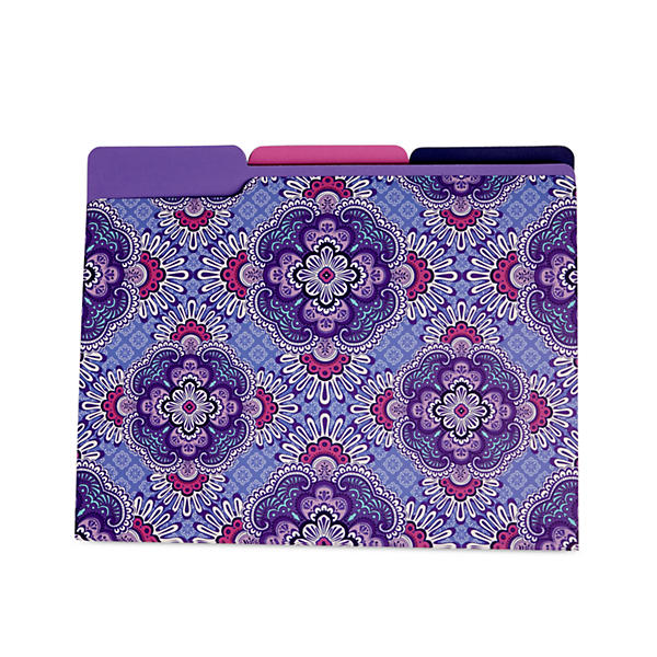 Vera Bradley File Folders in Lilac Tapestry