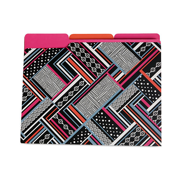Vera Bradley File Folders in Northern Stripes