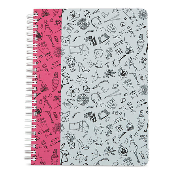 Vera Bradley Mini Notebook in Sketchy