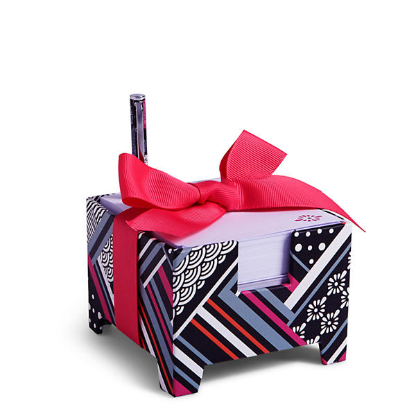 Vera Bradley Note Cube and Mini Pen in Northern Stripes
