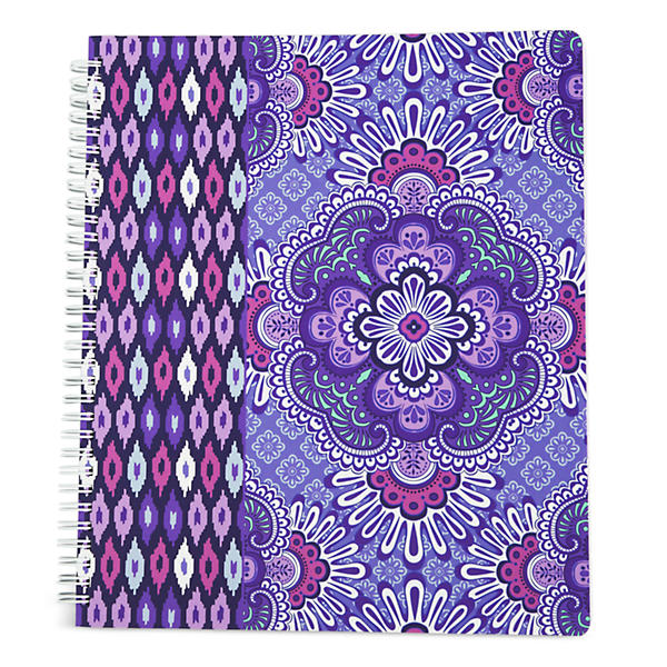 Vera Bradley Notebook with Pocket in Lilac Tapestry