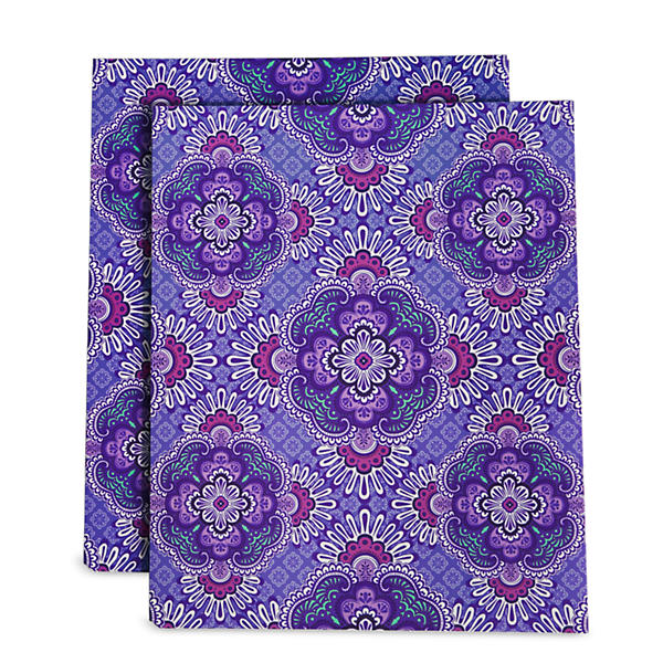 Vera Bradley Pocket Folders in Lilac Tapestry