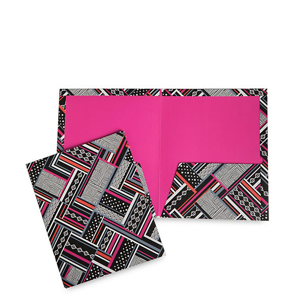 Vera Bradley Pocket Folders in Northern Stripes