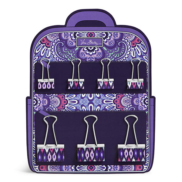 Vera Bradley Binder Clips in Lilac Tapestry