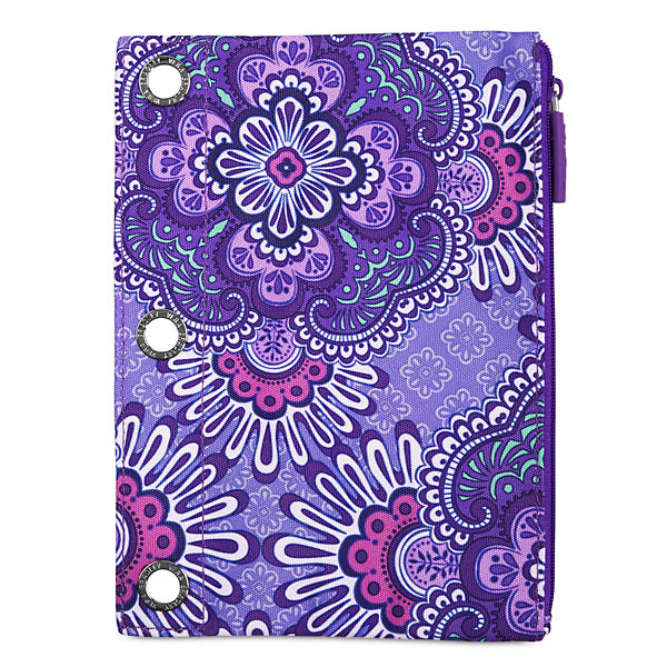 Vera Bradley Pencil Pouch in Lilac Tapestry