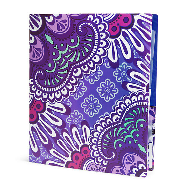 Vera Bradley Flexible Three Ring Binder in Lilac Tapestry