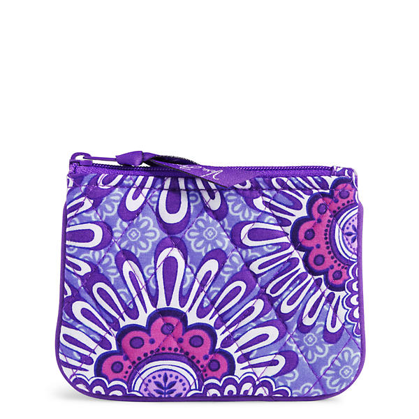 Vera Bradley Coin Purse in Lilac Tapestry