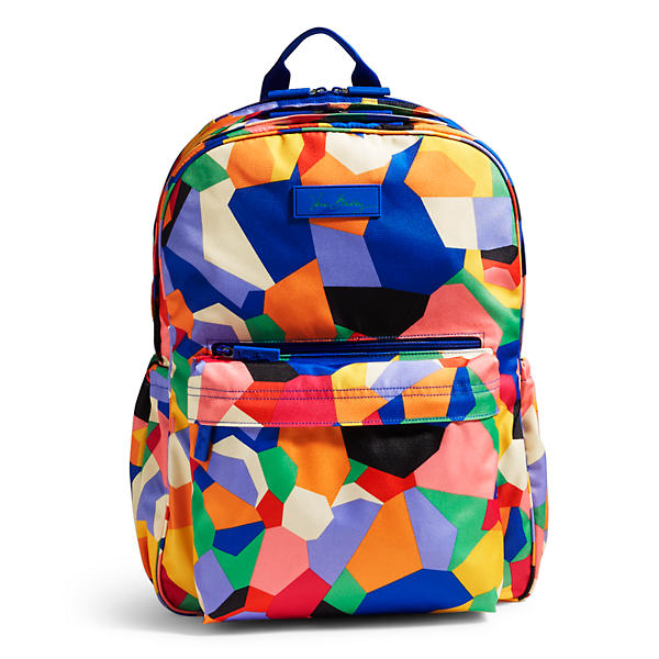 Vera Bradley Lighten Up Grande Laptop Backpack in Pop Art