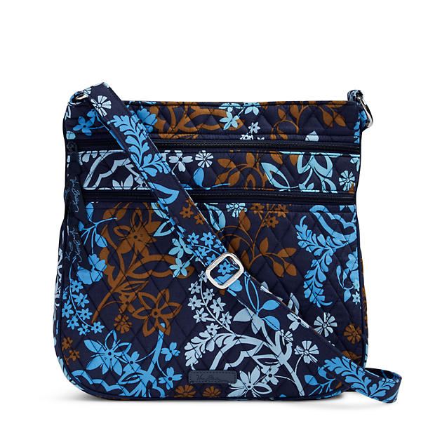 Vera Bradley Triple Zip Hipster Crossbody in Java Floral