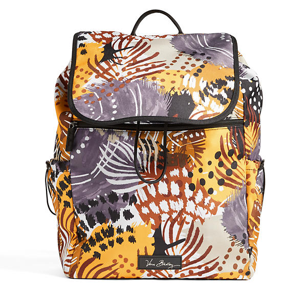 Vera Bradley Lighten Up Drawstring Backpack in Painted Feathers