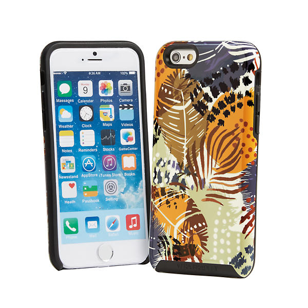 Vera Bradley Hybrid Case for iPhone 6/6s in Painted Feathers