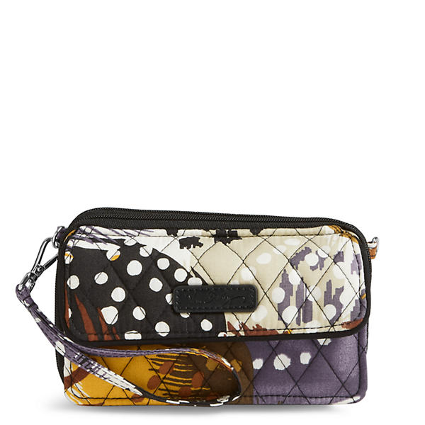 Vera Bradley All in One Crossbody and Wristlet for iPhone 6+ in Painted Feathers