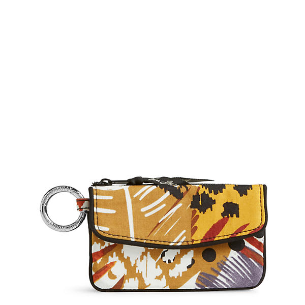 Vera Bradley Jen Zip ID Case in Painted Feathers