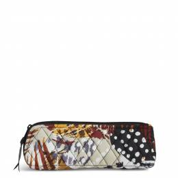 Vera Bradley Brush & Pencil Case in Painted Feathers