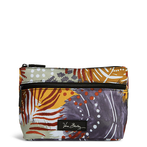 Vera Bradley Lighten Up Travel Cosmetic in Painted Feathers