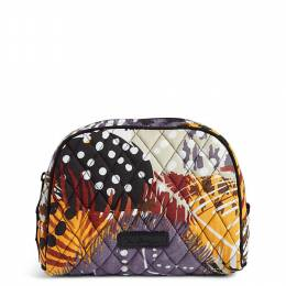 Vera Bradley Medium Cosmetic in Painted Feathers
