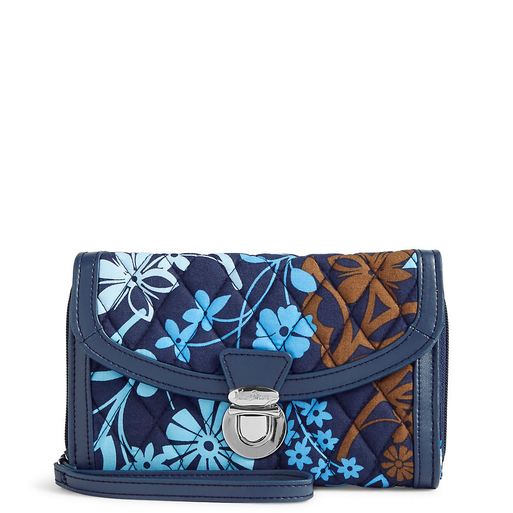 Vera Bradley Ultimate Wristlet in Java Floral with Navy